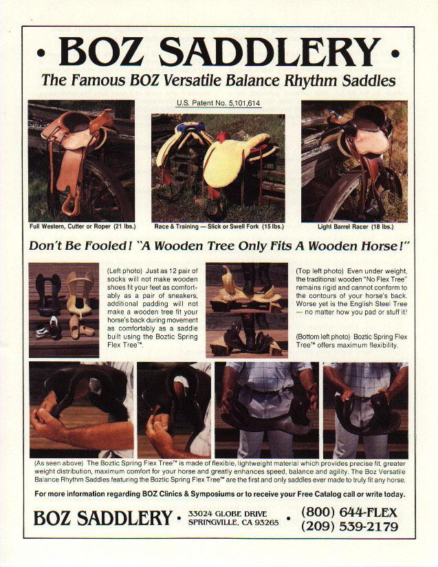 Boz Saddle Page